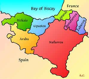 страна басков - карта
